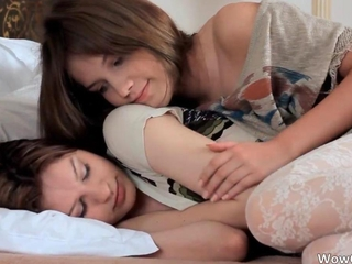 Sexy lesbian scene with team a few awesome
