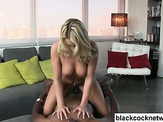 White slut riding big black cock Sex Tubes