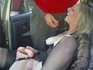 Amateur British Car Cumshot European Swallow