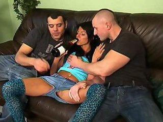 Drunk Jeans Teen Threesome