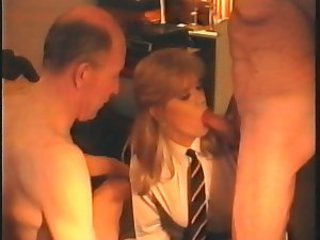 Amateur Blowjob Daddy Daughter Family Old and Young Student Teen Threesome Uniform