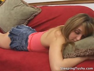 Skirt Sleeping Teen