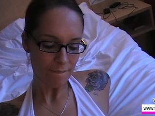 Amateur European German Girlfriend Glasses Homemade Pov Tattoo