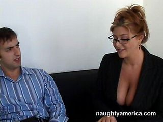 Big Tits Glasses MILF Natural Old and Young Secretary