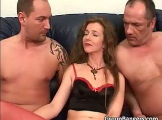 Daddy Family MILF Mom Old and Young Threesome