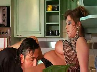 Big Tits Kitchen Licking MILF