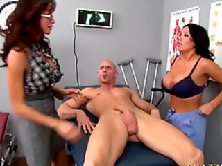 Amazing Big cock Big Tits Doctor MILF Pornstar Threesome