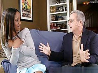Daddy Ebony Interracial Old and Young Teen