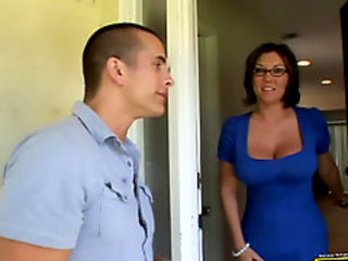 Big Tits Glasses MILF Old and Young Wife