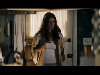 Kate Mara shows pokies inside the see through shirt.