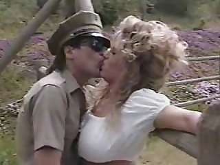 Army Kissing MILF Outdoor Vintage