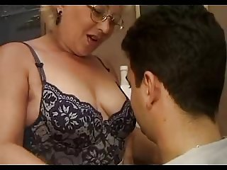 European Glasses Italian Mature Mom Old and Young SaggyTits