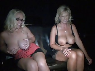 two blonde bitches visit cinema for adults