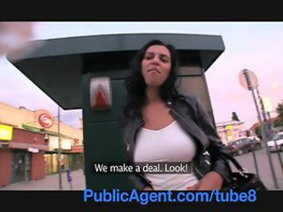 PublicAgent Big boobed Russian bent over and fucked against my car