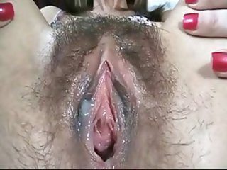 Milf hairy pussy creampie