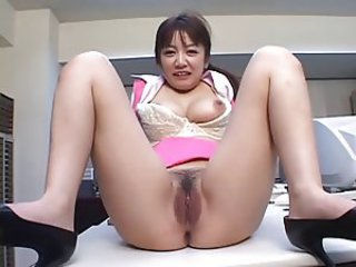 Asian Japanese MILF Office Pussy