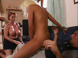 Big Tits Daughter Family MILF Mom Natural Old and Young Riding Teen Threesome