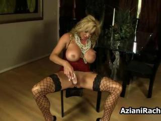 Amazing Big Tits Fishnet Masturbating MILF Pornstar Solo Stockings Toy