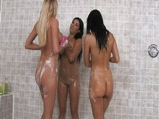 Hot orgy in communal shower