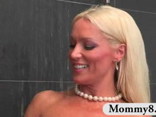 "Boy walks into MILF stepmom in the shower and they take it to the bedroom"" class=""th-mov"