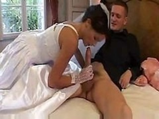 Babe Big cock Blowjob Bride Clothed