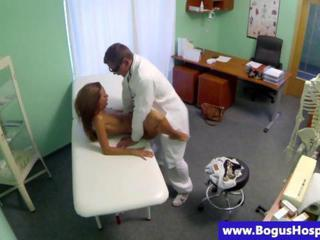 "Slim teen patient rides her doctors cock"" class=""th-mov"