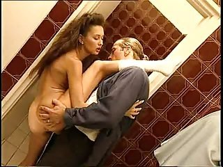 FUCK ANAL TROIA STANDING ON BATH APRE IL CULO takes hard cock in the ass all the way tits nipples
