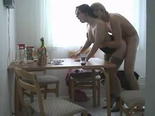 Amateur Drunk Homemade Kitchen MILF Mom Old and Young Stockings