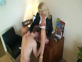 Licking MILF Office Secretary
