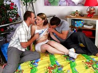 Double Penetration Teen Threesome