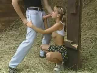 Big cock Blowjob European Farm German Teen