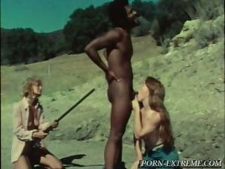 Blowjob Interracial Long hair MILF Outdoor Threesome Vintage