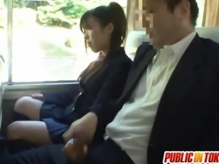 Asian Bus Handjob Japanese Public Student Teen Uniform