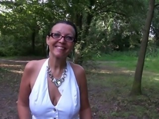 Glasses MILF Outdoor Public
