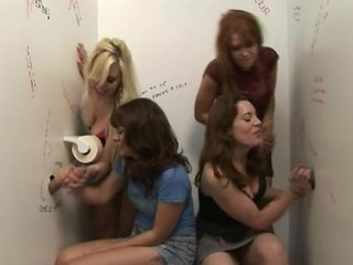 Cfnm Babes Stage Wanking Race At Gloryhole