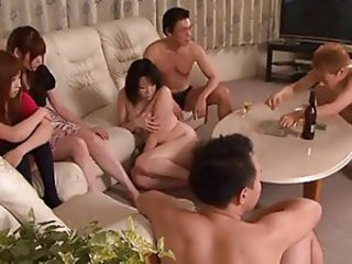Asian Groupsex MILF Orgy Swingers Wife