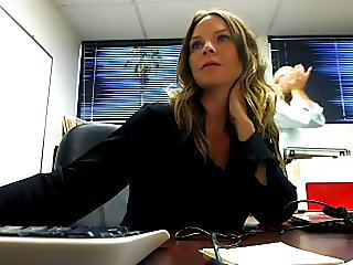 Having fun on cam at work