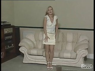 Lithuanian girl strips and gets spanked