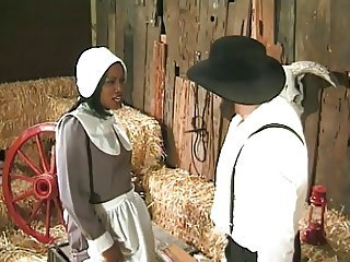Ebony Farm Interracial Maid MILF Uniform Vintage