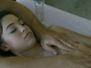 Steamy hot body massage