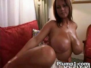 Big Tits MILF Natural Oiled SaggyTits