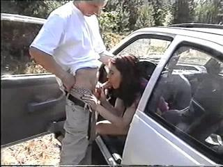 Polish brunette girl Monika suck and fuck in car