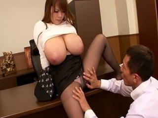 Asian Big Tits Japanese MILF Natural Pantyhose Pornstar Secretary