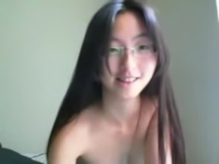 Asian Glasses Teen Webcam