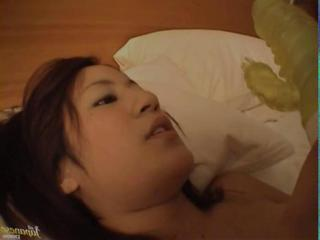 Japanese coitus with hairy girl in hotel