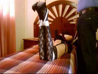 Coral fucking bitch in hogtied