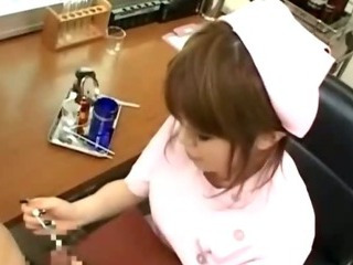 "Japanese nurse cock jerking and cumshot action"" class=""th-mov"