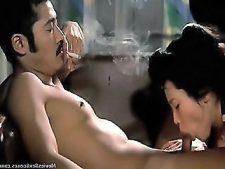 Eiko Matsuda Nude Giving A Blowjob To A Guy In Various