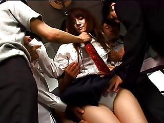 Asian Bus Gangbang Japanese Public Student Uniform