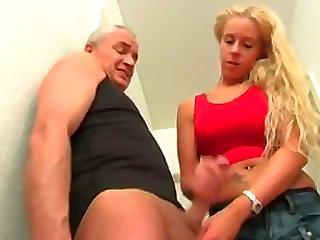 Daddy Daughter Handjob Old and Young